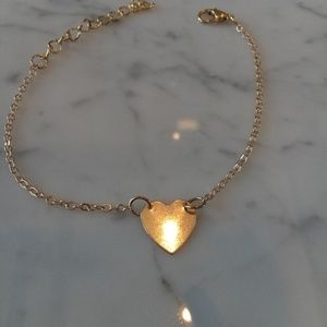 Gold ankle bracelet $25